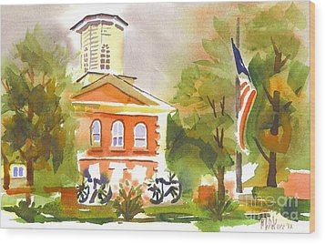 Cloudy Day At The Courthouse Wood Print by Kip DeVore