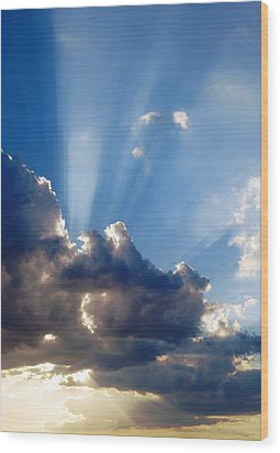 Cloudy Day Rays Wood Print by Dorothy Berry-Lound