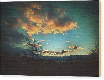 Cloudy Now Wood Print by Taylan Apukovska