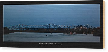 Clover H Cary Bridge Wood Print by David Lester