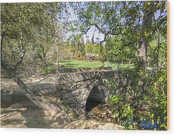 Clover Valley Park Bridge Wood Print