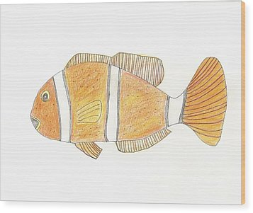 Clown Fish Wood Print