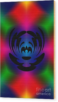 Clown In Color Wood Print by Steve Purnell