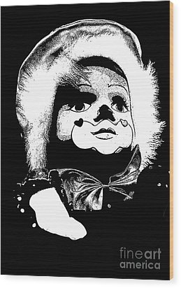 Clowning Around Wood Print by Linsey Williams