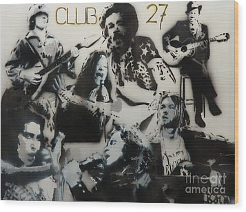 Club 27 Wood Print by Barry Boom