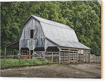 Clubhouse Road Barn Wood Print by Cricket Hackmann