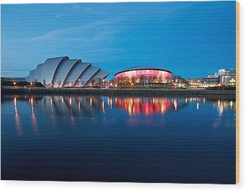 Clydeside Reflected Wood Print