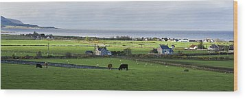 Wood Print featuring the photograph Clyneview Panorama Scotland by Sally Ross