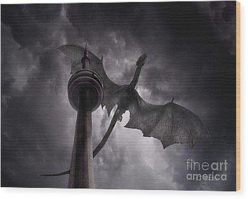 Cn Dragon Wood Print by Tom Straub