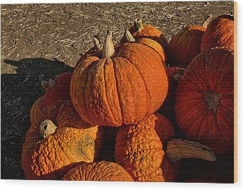Wood Print featuring the photograph Knarly Pumpkin by Michael Gordon