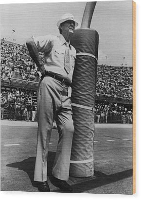 Coach Bear Bryant Wood Print by Retro Images Archive