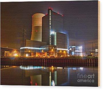 Coal Fired Powerhouse Wood Print