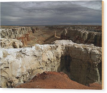 Coal Mine Mesa 08 Wood Print by Jeff Brunton