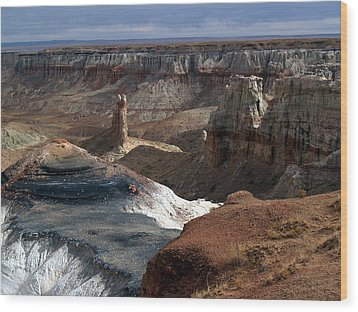 Coal Mine Mesa 09 Wood Print by Jeff Brunton