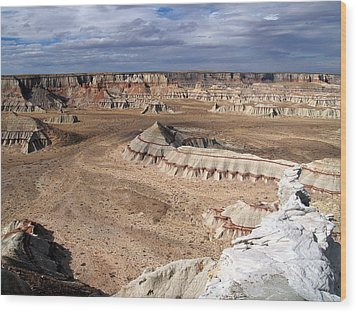 Coal Mine Mesa 11 Wood Print by Jeff Brunton