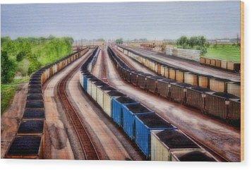 Coal Snakes Wood Print by Sylvia Thornton