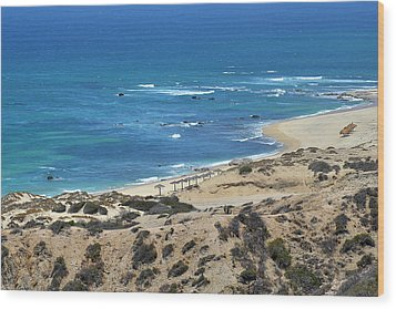 Wood Print featuring the photograph Coast Baja California by Christine Till