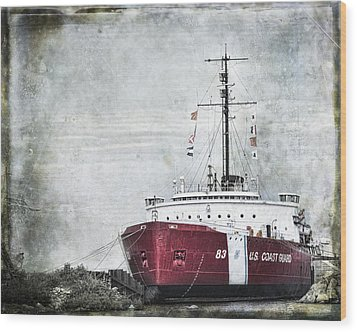 Coast Guard Wood Print by Evie Carrier
