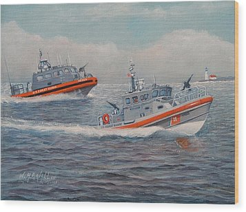 Coast Guard Lri And Rb-m Wood Print by William H RaVell III
