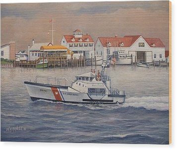 Coast Guard Station Wood Print by William H RaVell III