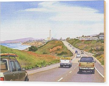 Coast Hwy 101 Carlsbad California Wood Print by Mary Helmreich
