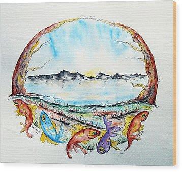Coast Wood Print by Natasa Dobrosavljev