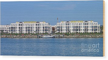 Wood Print featuring the photograph Coast Warnemuende Germany by Art Photography