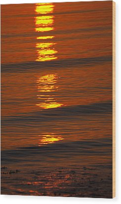 Coastal Abstract Wood Print by Karol Livote