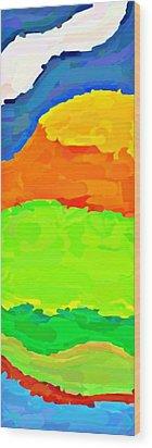 Coastal Highway Wood Print by ABA Studio Designs