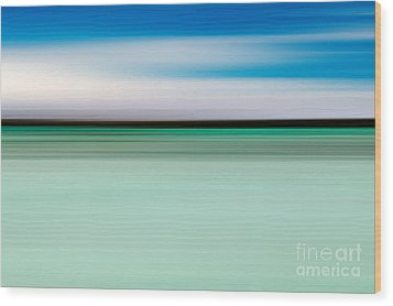 Coastal Horizon 5 Wood Print by Delphimages Photo Creations