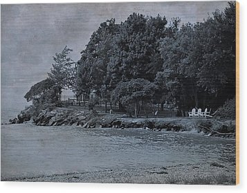 Coastal Living On Lake Erie Wood Print by Dan Sproul