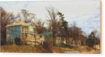 Coastal Living On The Dunes Of The Big Lake Wood Print by Rosemarie E Seppala