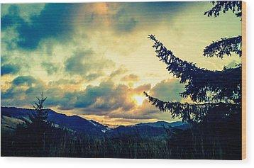 Coastal Mountain Sunrise IIi Wood Print