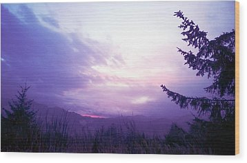Coastal Mountain Sunrise Iv Wood Print