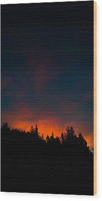 Coastal Mountain Sunrise Vi Wood Print