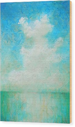 Wood Print featuring the painting Coastal by Pam Talley