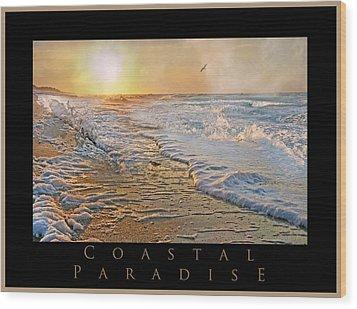Coastal Paradise Wood Print by Betsy Knapp