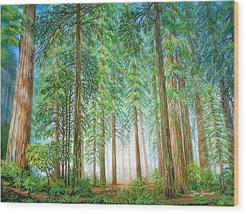 Coastal Redwoods Wood Print