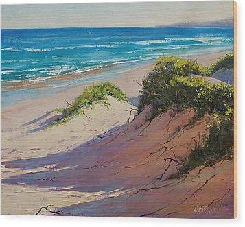 Coastal Sand Wood Print by Graham Gercken
