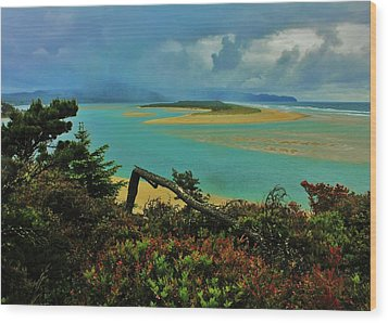 Coastal Storm Wood Print by Benjamin Yeager