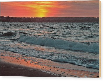 Coastal Sunset Wood Print by Brian Chase