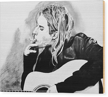 Cobain Wood Print by Jeremy Moore