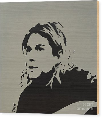 Cobain Spray Art Wood Print