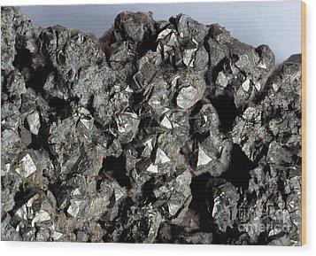 Cobaltine Mineral Wood Print by Spl