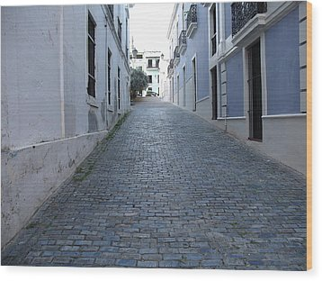 Wood Print featuring the photograph Cobble Street by David S Reynolds