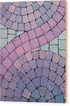 Cobblestone Abstract Wood Print by Art Block Collections