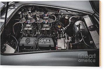 Wood Print featuring the photograph Cobra Engine by Matt Malloy