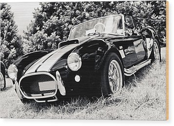 Cobra Sports Car Wood Print by Phil 'motography' Clark