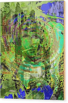 Cobwebs Of The Mind Wood Print