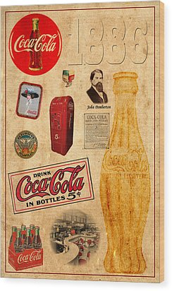 Coca Cola Wood Print by Andrew Fare